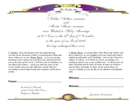 wedding.vow.certificate